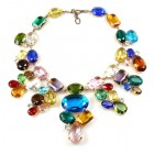 Swirling Colors ~ Multicolor Huge Necklace