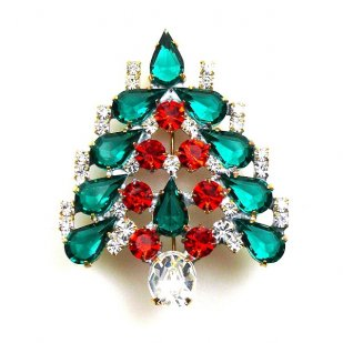 Xmas Tree Brooch #4 Season 2018 ~ Emerald