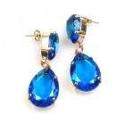 Raindrops Earrings Pierced ~ Capri Blue