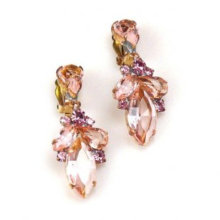 Grace Earrings Clips ~ Rose