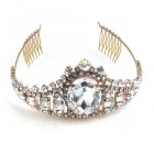 Gods Eye Tiara Large ~ Clear Crystal