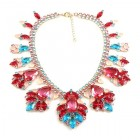 Fancy Essence Necklace ~ Aqua Fuchsia
