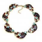 Brilliant Dew Necklace ~ Purple and Pastel Color Tones