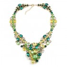 Dione Necklace ~ Green Tones with Yellow