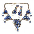Hold On To Love Necklace Set ~ Blue