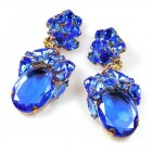 Fiore Clips Earrings ~ Blue