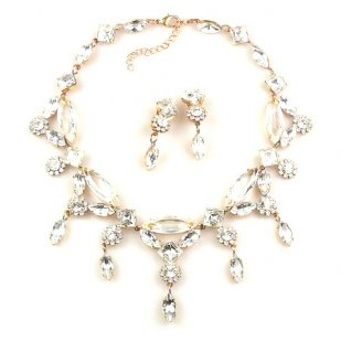 Archimedes Necklace Set ~ Clear Crystal