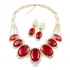 Velvet Poison Necklace Set ~ Crystal with Red