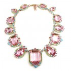 Candy Puffs Necklace ~ Pink Multicolor