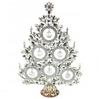 13 Inches Giant Xmas Tree with Glass Baubles ~ Clear Crystal