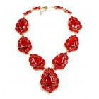 Sonatine Necklace ~ Ruby Red