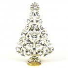 2020 Xmas Tree Decoration 18cm Hearts Navettes ~ Clear Crystal