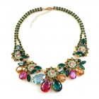 Parisienne Bloom Necklace ~ Emerald Pleasure