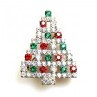 Xmas Tree Brooch #13 ~ Multicolor