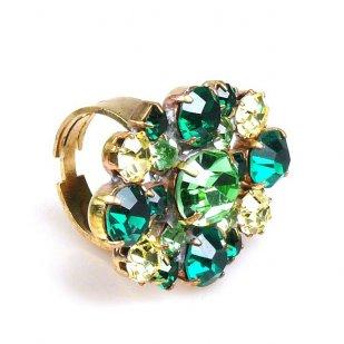 Alpha Ring ~ Green Yellow Jonquil