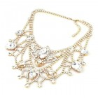 Bon Repos Jewelry Necklace ~ Clear Crystal