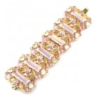 Ffion Baguette Bracelet ~ Pink Yellow