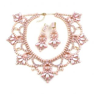 Pure Luxury Necklace Set ~ Pink with Opaque Pink