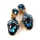Constance Earrings Clips ~ Montana Blue