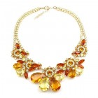 Parisienne Bloom Necklace ~ Amber Treasure