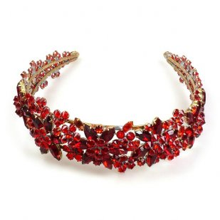 Forget-Me-Not Headband Tiara ~ Red