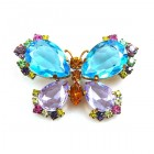 Butterfly Multicolor Brooch ~ #6