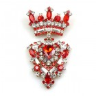 Order Brooch ~ Crown ~ Red