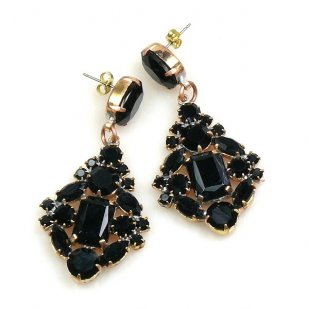 Fatal Touch Earrings Pierced ~ Black