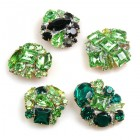Lot of 5 pc. Rhinestone Buttons ~ #03