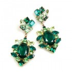 Sweet Temptation Earrings Pierced ~ Emerald with Green