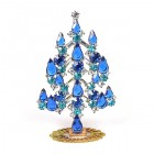 Xmas Tree Standing Decoration 2018 #05 Blue Sapphire