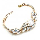 Lite Fountain Bracelet ~ Clear Crystal with Opaque White