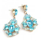 Fatal Touch Earrings Pierced ~ Aqua