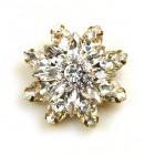 Grand Blossom Brooch ~ Medium ~ Clear Crystal