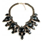 Taj Mahal Necklace ~ Black