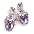 Lucrecia Extra Elipse Earrings Long Pierced ~ Violet