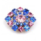 Rhinestone Button Meadham&Kirchhoff ~ Blue