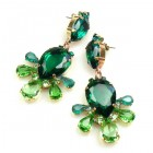 Xara Earrings Pierced ~ Green Emerald