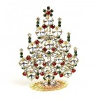Rivoli Xmas Stand-up Tree 9cm ~ Clear Multicolor