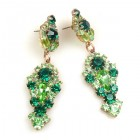Andromeda Earrings Pierced ~ Green Emerald