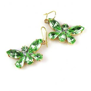 Butterflies Earrings ~ Green