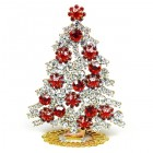 Xmas Tree Standing Decoration 2020 #08 Clear Red