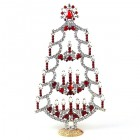 Xmas Tree Stand-up with Candles 20cm ~ Clear Red