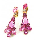 Sophia Earrings Clips ~ Fuchsia