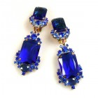Pearlesque Earrings Clips ~ Deep Blue