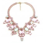 Taj Mahal Necklace ~ Pink with Opaque White