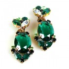 Mythique Clips-on Earrings ~ Emerald