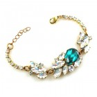 Lite Fountain Bracelet ~ Clear Crystal with Emerald
