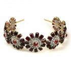 Headband Tiara ~ Garnet Crystal Pleasure