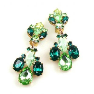Earrings Green Collection Clips ~ #1